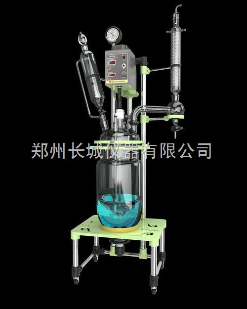 10l玻璃反应釜 双层玻璃反应釜