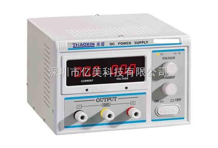 ZHAOXIN KXN15100D开关直流稳压电源规格: 输出电压和输出电流从0到标称值连续可调 稳压稳流自动切换 在一定情况下允许长时间工作 过载和极性反向保护功能是电源免受意外损坏 LED显示输出电压和电流 电源冷却风扇与温度传感器连接,当内部温度或负载减少时风扇可自动减低速度,这可以防止额外的噪声