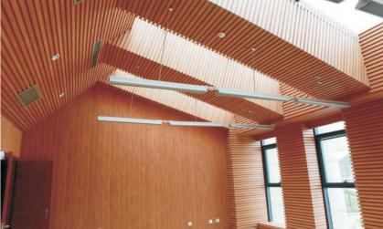 福州195生态木长城板 绿可木室内吊顶
