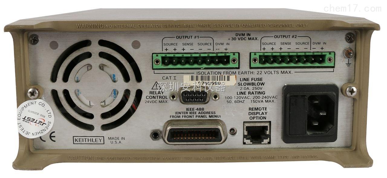 产品展厅 配件耗材 电源设备 交/直流稳压电源 2306 吉时利双路输出程