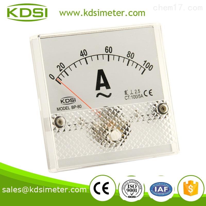 康的斯/kdsi 指针交流电流表 bp-80 ac100/5a 电流表头