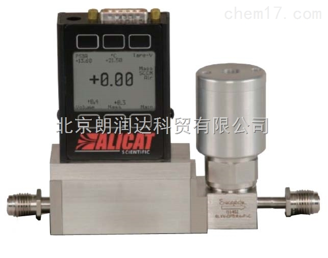 ALICAT 带集成截止阀气体质量流量控制器