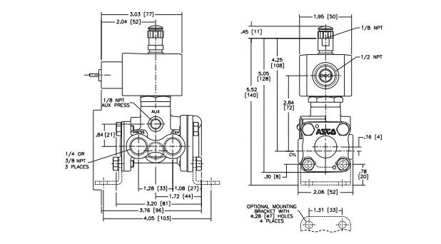 asco电磁阀两位四通电磁阀性能原理