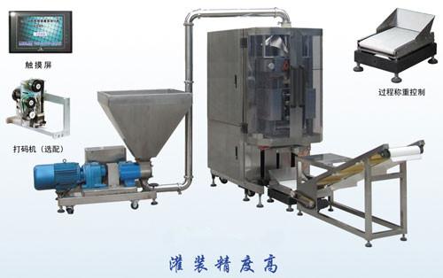 QD-550全自动注塞泵酱料液体包装机馅料v酱料验纱机图片