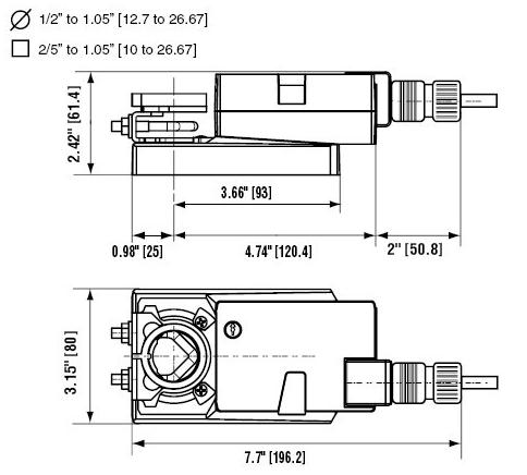 风阀执行器的结构图