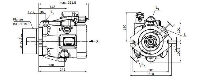REXROTH力士乐柱塞泵的压力最大可达315bar REXROTH力士乐柱塞泵最佳功率重量比 REXROTH力士乐柱塞泵可以在通轴驱动装置上串联其他泵,REXROTH力士乐柱塞泵最大规格串联到相同的公称规格 REXROTH力士乐柱塞泵传动轴轴线和缸体轴线是一致的。这种结构较简单,REXROTH力士乐柱塞泵转速较高,但工作条件要求高,REXROTH力士乐柱塞泵柱塞端部与斜盘的接触部往往是薄弱环节。REXROTH力士乐柱塞泵斜轴式的斜盘轴线与传动轴轴线是一致的。REXROTH力士乐柱塞泵是由于柱塞缸体相对传