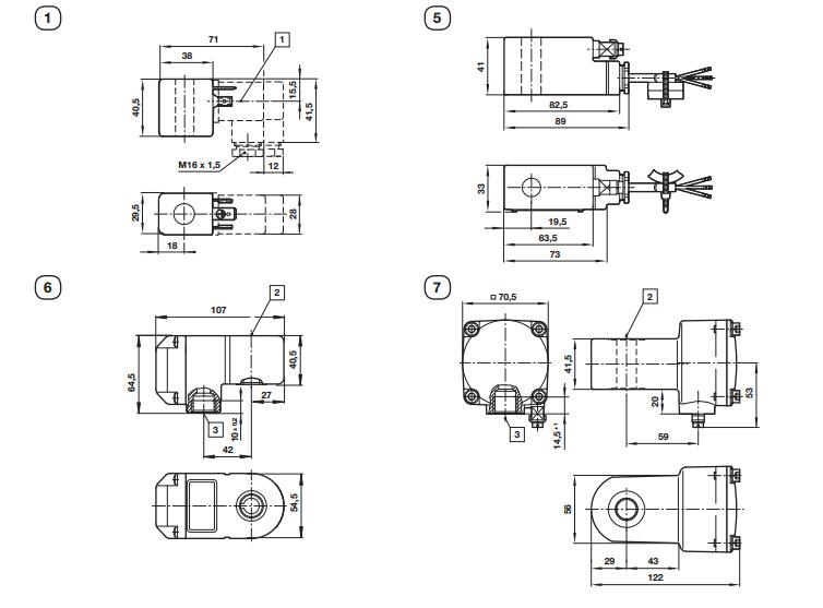 g1/4;namur 诺冠norgren管式连接电磁阀驱动:    41031 诺冠图片