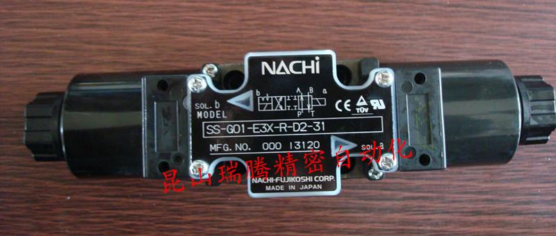 苏州/昆山瑞腾-优勢供货SS-G01-E3X-R-D2-31SS-G01-E3X-R-D2-31供应NACHI不二越电磁换向阀NACHI-FUJIKOSHI不二越NACHI电磁阀SS-G01-E3X-R-C1-31